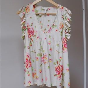 Joie Sleeveless Floral Blouse